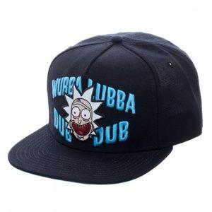 Rick And Morty Wubba Lubba Black Snapback Hat
